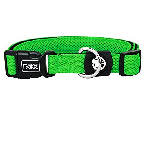 DDOXX Hundehalsband Air Mesh, verstellbar, gepolstert | viele Farben | für kleine & große Hunde | Halsband Hund Katze Welpe | Hunde-Halsbänder | Katzen-Halsband Welpen-Halsband klein | Grün, XS