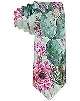 Men's Fashion tie Cactus Flower Floral Necktie One Size Neck Tie