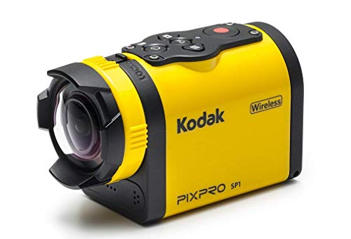 Kodak PIXPRO SP1 Action Cam with Explorer Pack 14 MP Water/Shock/Freeze/Dust Proof, Full HD 1080p Video, Digital Camera and 1.5' LCD Screen (Yellow)