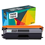 Do it Wiser Compatible Black Toner Cartridge for Brother TN315BK TN336 TN315 TN310 TN331 HL-L8350CDW HL-L8350CDWT HL-L8250CDN HL-4150CDN MFC-L8850CDW MFC-L8600CDW MFC-9970CDW - High Yield 4,000 Pages