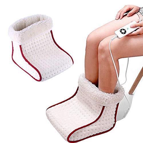 JWC Praktische elektrische Fußwärme, hergestellt aus hochwertigem Kristallsamt Komfortabel 5...