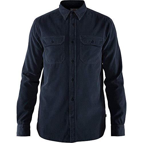 FJÄLLRÄVEN Övik Cord Shirt à Manches Longues Homme, Dark Navy, FR (Taille Fabricant : XS)