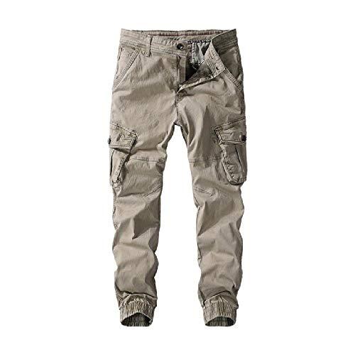 N\P Los hombres Joggers Algodn Militar Cargo Pantalones Streetwear Joggers Pantalones Hombres Color Slido Casual
