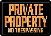 金属スズマーク,私物侵入禁止,警告安全フィールドマーク,家庭装飾目新しい面白い贈り物,私設フェンスマーク,屋内外使用,壁吊り板,人穴11.81×7.87インチ
