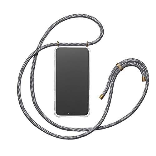 KNOK Case Handykette Kompatibel mitiPhone X/XS- Handy Hülle mit Kordel zum Umhängen - Phone Necklace in Grau