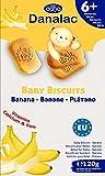 Danalac Babykekse Banane, 120 g Snacks und Nahrung für Kleinkinder ab 6 Monaten mit Kalzium, Eisen und Vitaminen