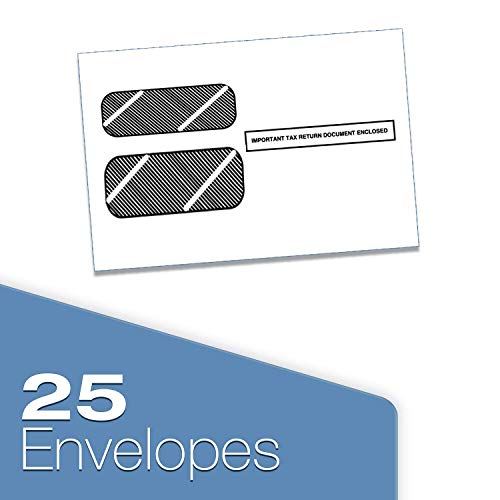 W2 Tax Forms 2020 - Tangible Values 4-Part, 25 Pack Laser Tax Form Kit with Envelopes - Includes TFP Software Photo #3
