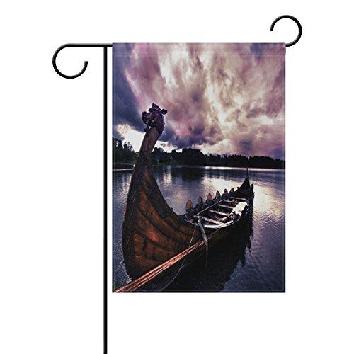 LIANCHENYI Dragon Boot Dusk doppelseitig Familie Flagge Polyester Outdoor Flagge Home Party Decro Garten Flagge 30,5x 45,7cm
