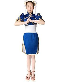 Double Villages Superior Street Fighter Chun Li Cosplay Costume  XL