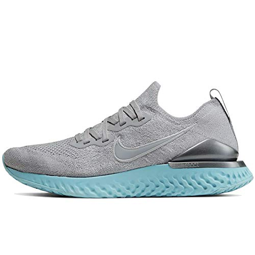 Nike Women's W Epic React Flyknit 2 Competition Running Shoes, Wolf Grey/Wolf Grey/Metallic Silver, 6 UK