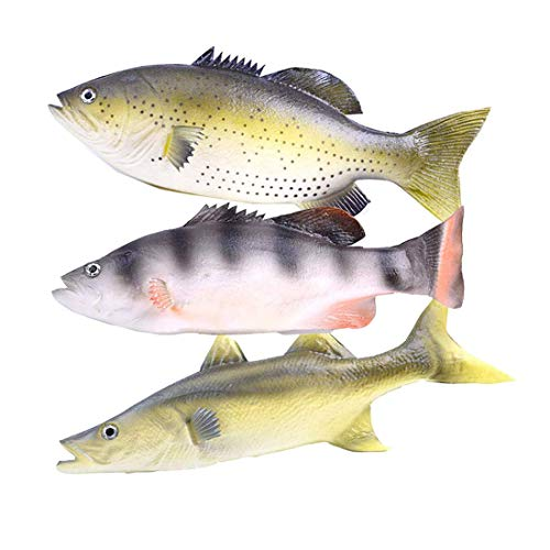 Enxee 3pcs Simulated Fish Model, Lifelike Pretend Play Fish Set for Kitchen Decoration Home Decoration Store Party Display Kids Teaching Learning Toy Tools Photography Props