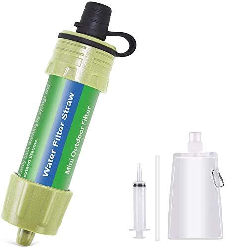 Lixada WasserFilter Stroh Wasser Filtrationssystem Wasserreiniger zum Notfallvorsorge...