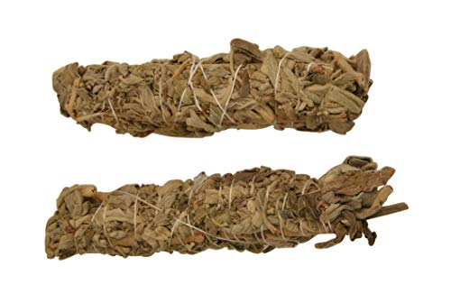 Blessfull Healing California White Sage 6 Inches Smudge Sticks/Use for Home Cleansing, and Fragrance, Meditation, Smudging Rituals- 2 Pack