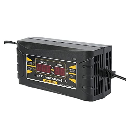TYPSHOP Cargador automático de batería automático Completo 15 0V-250V A 1 2V 6A Carga de energía rápida Inteligente Adecuada for la Motocicleta del automóvil con UE Enchufar (Color : 12V 6A US)