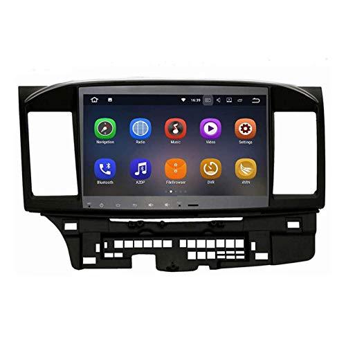 JALAL Für 2014-2017 Mitsubishi Lancer EVO X Galant mit Rockford Fosgate AMP Android Stereo-GPS-Navigation 10,2-Zoll-HD-Touchscreen-Navi SWC-Telefonsteuerung Multimedia-Player, 08/13 mit Rockford