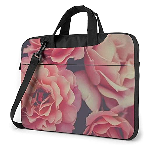 Bolsa Para Portátil Bolso Del Ordenador Portátil De Pink Rose, Maletín De La Tableta Ultraportátil, Paño Protector De Oxford Del Bolso