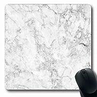 コンピューター用マウスパッドアートグレー素朴な白大理石工業用スポットセラミックグレー花崗岩床石抽象長方形形状滑り止め長方形ゲーミングマウスパッド 18x22cm