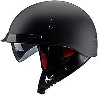 ABN Sicherheitszertifizierung CNS A,XL DOT 4 Farben erh/ältlich Mode Harley Motorrad Helm QYHT Sommer Motorrad Retro Helm ECE