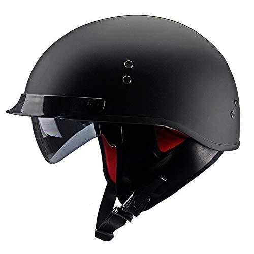 QYHT Sommer Motorrad Retro Helm, Mode Harley Motorrad Helm, DOT, ECE, CNS, ABN Sicherheitszertifizierung, 9 Farben erhältlich (C,XL)