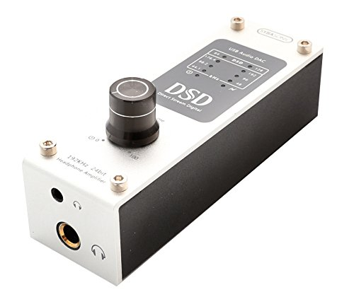 Portable USB DSD 192 KHz / 24bit DAC and Headphone Amplifier – DSD64 DSD128. Use with Smartphones/Digital Audio Players/Tablets/Laptops SD-DAC63057