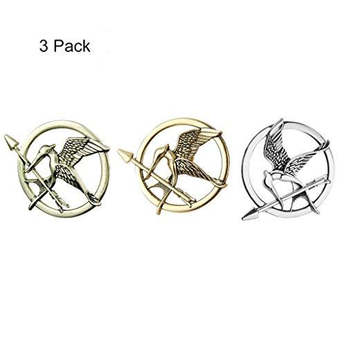 Formemory Vintage Spott Vögel Brosche Antik Spottdrossel Pin für Männer & Frauen Hunger Games Mockingjay Pin Brosche, 3st. (Gemischte Farbe)