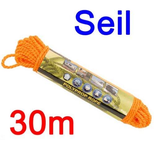 Land-Haus-Shop touw 30 m 0,6 cm polypropyleen voor boot, camping, aanhanger, tent, paviljoen, touw (LHS)