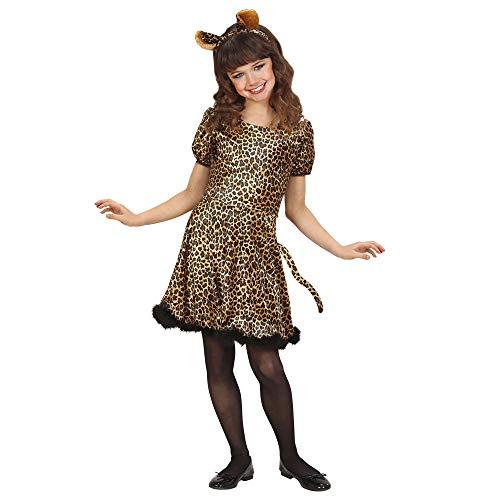 Widmann LEOPARDENGIRL Kostüm Kleid Mädchen 140