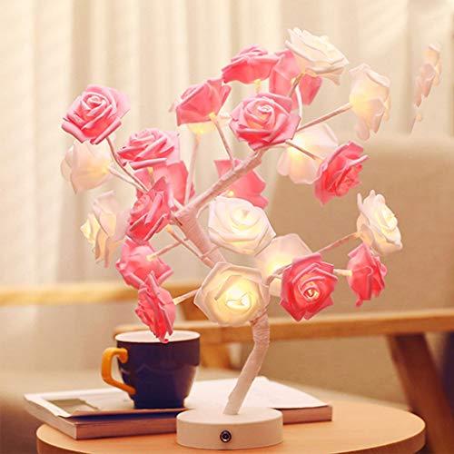 LED Dual-use Rose Tree Night Light Slaapkamer Geschenk Creatieve Kleine Tafellamp led Licht String Romantische Valentijnsdag Gift Moederdag Geschenken Geschikt voor het verzenden van vrienden en geliefden Boomlicht