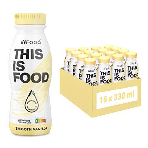 YFood Vanille | Laktose- und glutenfreier Nahrungsersatz | 22g Protein, 26 Vitamine und Mineralstoffe | Leckere Astronautennahrung - 17{1bf2688d3822c15c03933fcbf2e3649684a73154ffc02805e43fed984cd79f6e} des Kalorienbedarfs | Trinkmahlzeit, 16 x 330 ml (1 kcal/ml)