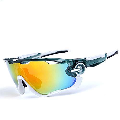 Occhiali da sole sportivi polarizzati, Occhiali da ciclismo per uomo e donna con 5 lenti intercambiabili, protezione UV400 polarizzata, per guida in bicicletta Golf Pesca Esecuzione