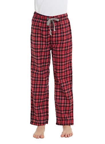 HiddenValor Big Boys Cotton Pajama Lounge Pants (Red/Black, XL)