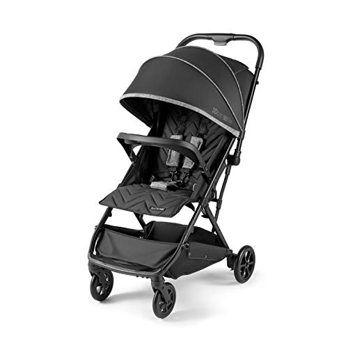Summer 3Dpac CS Lite Compact Fold Stroller, Black – Compact Car Seat Adaptable Baby Stroller – Lightweight Stroller with Convenient One-Hand Fold, Reclining Seat, Extra-Large Canopy, and More