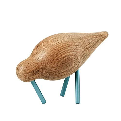 Normann Copenhagen houten vogel, hout, blauw