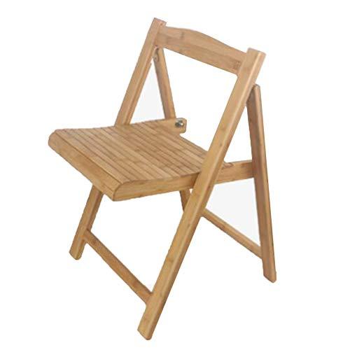 QIDI Tabourets de Chaise Bamboo Modern Simplicity Pliable Facile à Transporter, pêche en Plein air - Installation Gratuite - 32 * 32 * 67cm (Couleur : Couleur du Bois)
