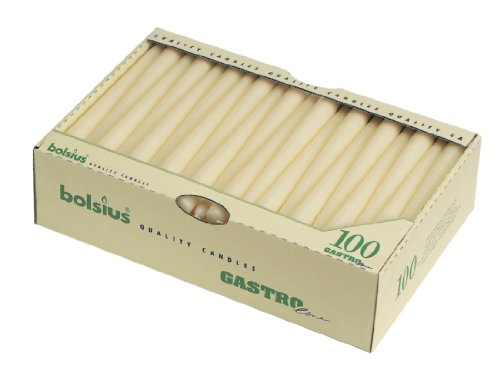 10'' Tapered Candles - Ivory. Box quantity 100.