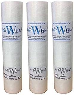 PP Osmose inverse Lot de 3 cartouches filtre à sédiments 5 microns Pour Osmose inverse, lances à eau et traitement de l...