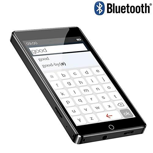 MP3-speler, volledig touchscreen 4.0 inch Bluetooth 8GB muziekspeler, ondersteuning voor FM-radio, video-e-book opnemen met ingebouwd