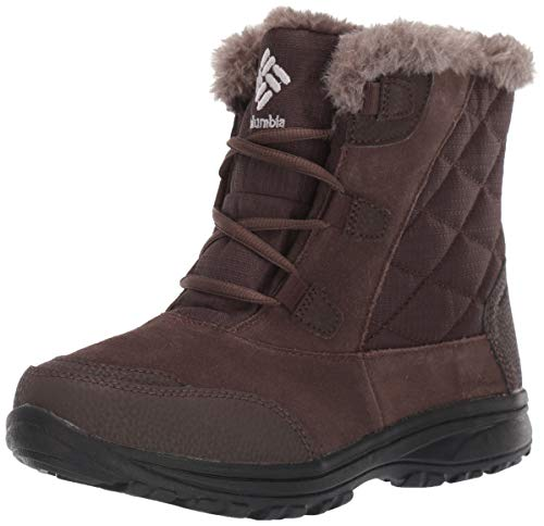 Columbia Women's ICE Maiden Shorty Snow Boot, Cordovan, Grey, 9.5