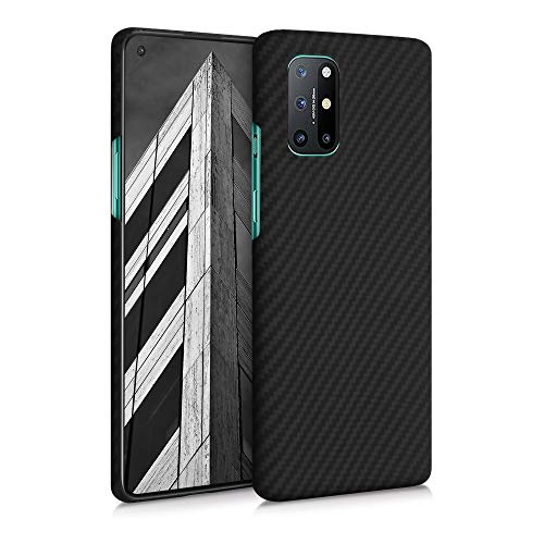 kalibri Schutzhülle kompatibel mit OnePlus 8T - Hülle Aramid - Handy Cover Hülle Handyhülle Schwarz matt