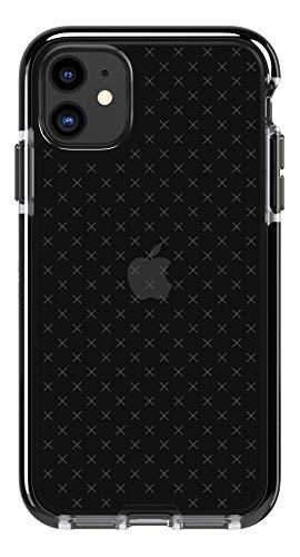 Tech21 Evo Check Schutzhülle für iPhone 11 - Schützende Dünne Schale Beständig Handyhülle - Rauchig/Schwarz