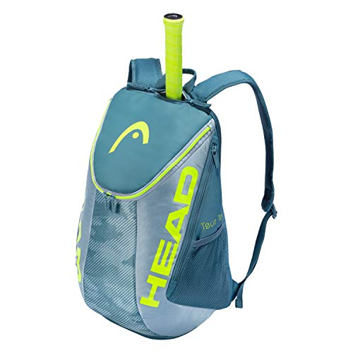 HEAD Unisex-Erwachsene Tour Team Extreme Backpack Tennis Bag Tennisschlägertasche, grau/gelb