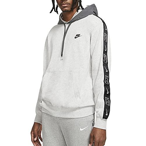 Nike Sudadera de hombre con capucha City Edition gris, cód. CZ9946-051 Blanco/gris/negro. M