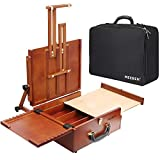 MEEDEN Ultimate Pochade Box,Lightweight and Portable French Easel Box with Storage,Plein Air Easel for Painting with Nylon Carry Bag,Makes Outdoor Painting Easy and Fun