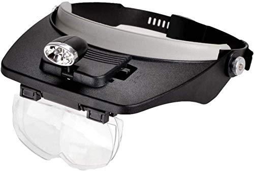 Vergrootglas Van De Holding De Head-Mounted Vergrootglas LED-Lamp 5 Times Leesbril Oud Procesdefinitie,Black