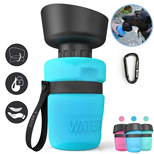lesotc Pet Water Bottle for Dogs, Dog Water Bottle Foldable, Dog Travel Water...