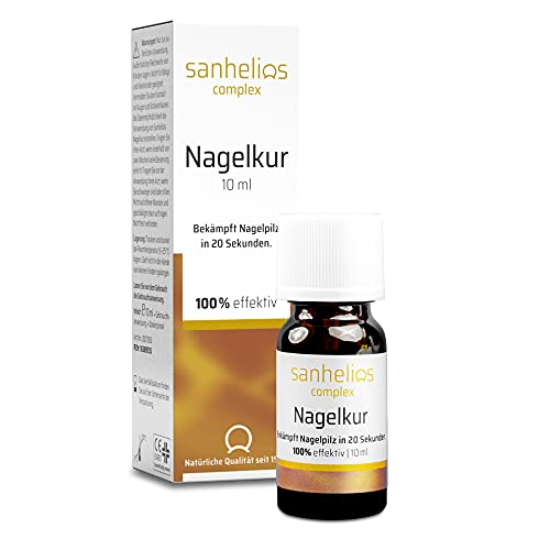 Sanhelios Nagelkur 10 ml | Zur wirksamen Bekämpfung von Nagelpilz | belegte Intensiv-Wirkung in nur 20 Sek. | ohne Feilen | mit nagelpflegenden Ölen | verbessert das Erscheinungsbild | 100% effektiv