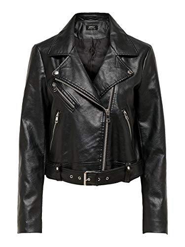 Only Onlvalerie Faux Leather Jacket CC Otw Chaqueta, Negro, S para Mujer