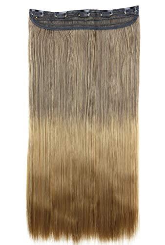 PRETTYSHOP 60cm Clip In Extensions Haarverlängerung Haarteil Glatt Ombré Braun Blond C75