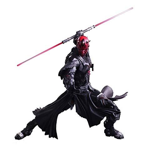 Siyushop Star Wars Verschiedene SPIELKÜNSTE Kai Darth Maul PVC-bemalte Actionfigur - Alien War Action Charaktere - Ausgestattet Mit Waffen Und Austauschbaren Händen - Hohe 25CM
