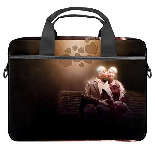 GLEND-Seniors Laptop-Tasche, Umhängetasche, Laptop-Tasche für Damen und Herren bis 38,1 cm (15,4 Zoll)